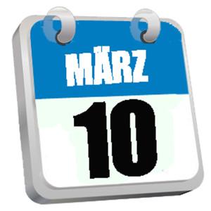 Terminkalender Blatt März 10